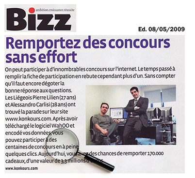 Article de Bizz.be