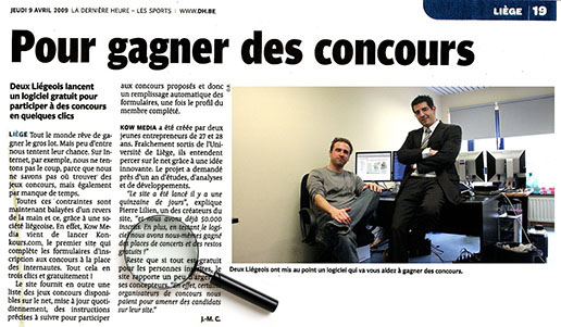 Article de la DH