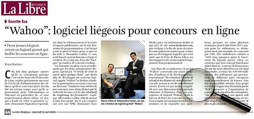 Article de La Libre Belgique