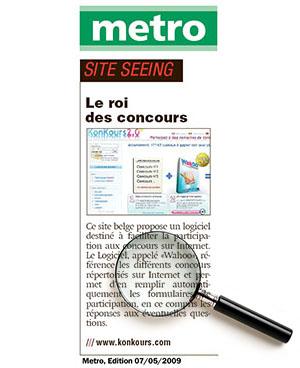 Article du Metro